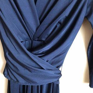 Eliza J Dresses - Eliza J Navy Blue Wrap/Tie Dress